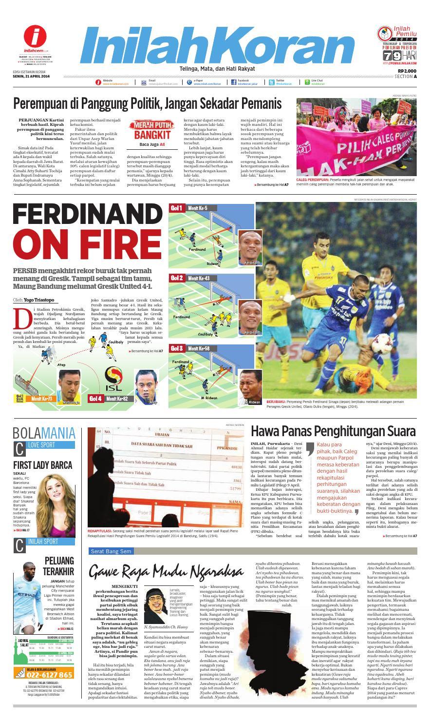 Ferdinand On Fire By Inilah Koran Issuu Produk Ukm Bumn Shifudo Bakso Ikan 500g Free Ongkir Depok Ampamp Jakarta