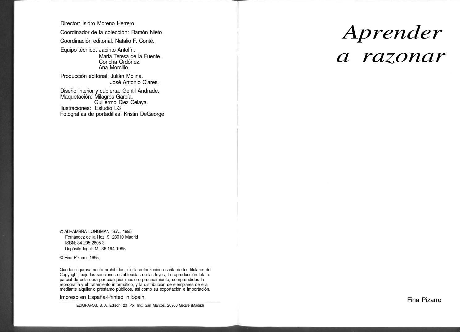 Aprender a razonar fina pizarro by Luis David Paz - issuu