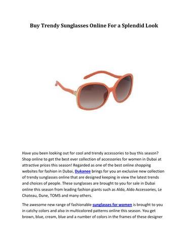 7084419754 Buy Trendy Sunglasses Online For a Splendid Look by Dukanee - issuu