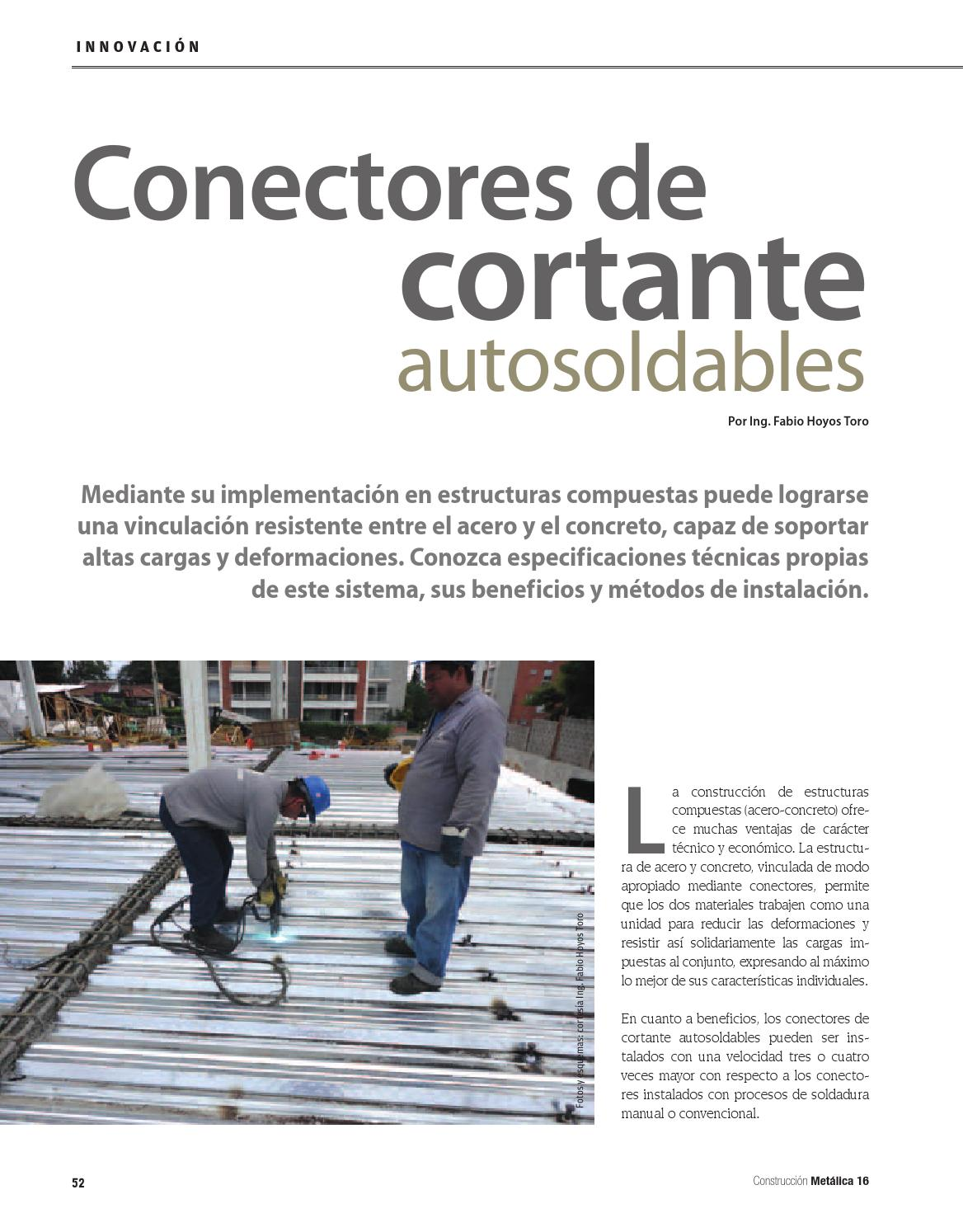 Conectores de cortante autosoldable by LEGIS SA - issuu