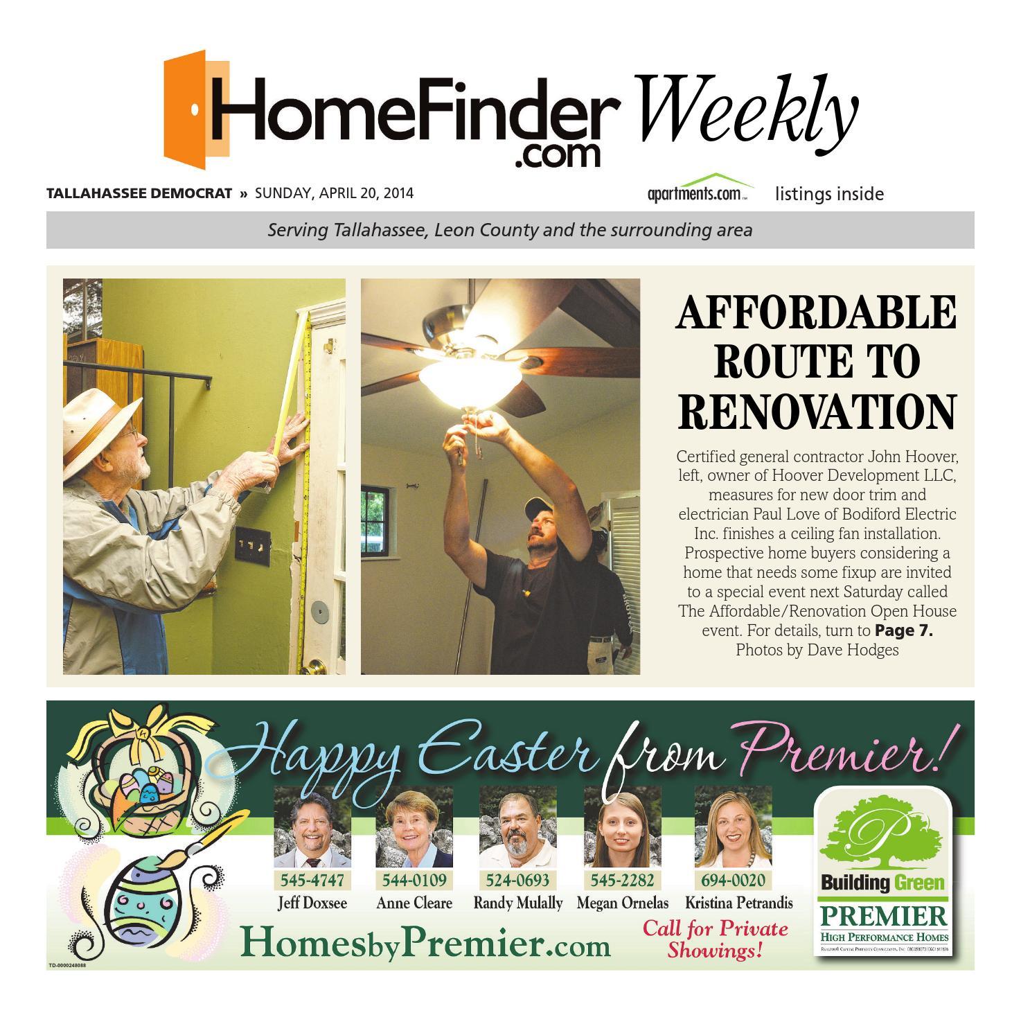 Homefinder april 20 2014 by Tallahassee Democrat - issuu