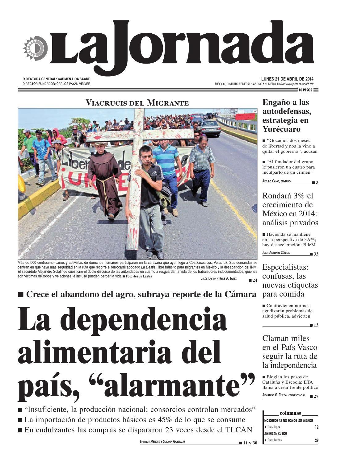 La Jornada 04 21 2014 By La Jornada Issuu