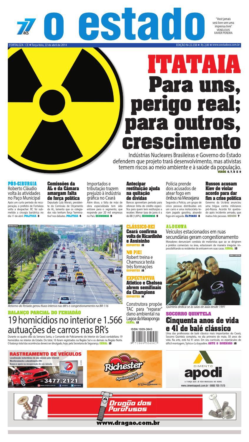 Edição 22237 - 22 de abril de 2014 by Jornal O Estado (Ceará) - issuu 329b1ec5ace74