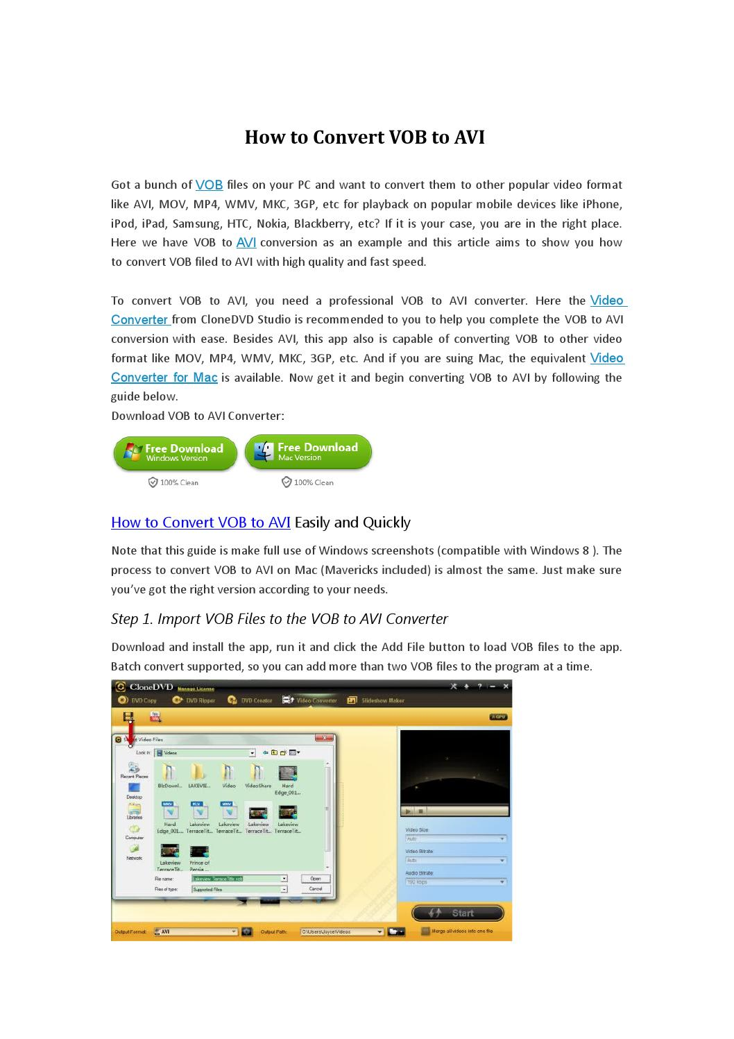 vob to avi converter free download full version