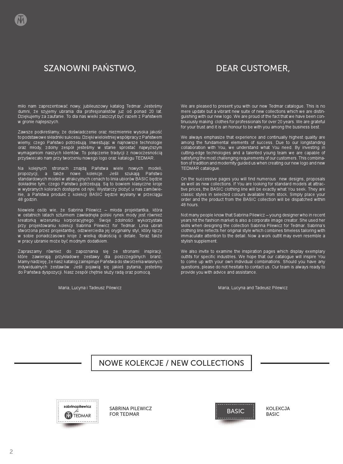 9760bf1d7a Katalog TEDMAR Quality Uniforms by TEDMAR - issuu