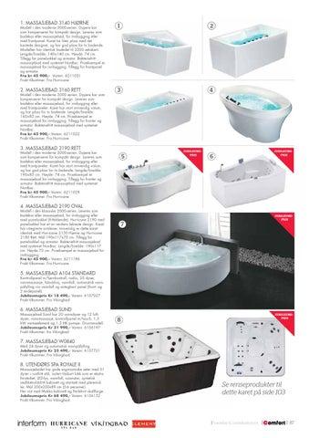 Dypere kar som kompenserer for kompakt design. Leveres som badekar eller  massasjebad 7c6df2ab1b17a