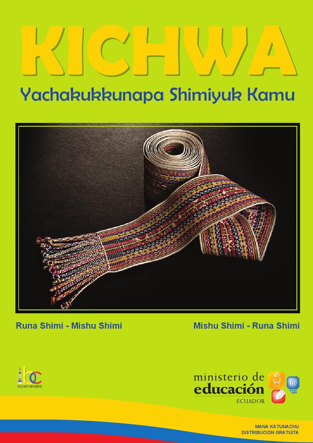Yachakukkunapa Shimiyuk Kamu by SUBSEIB - issuu