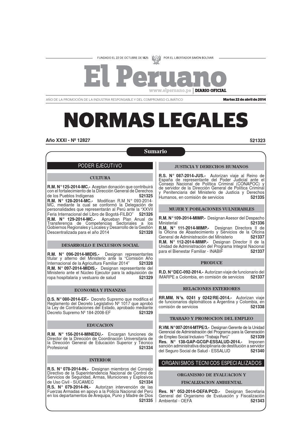 BOLETÍN DEL DIARIO OFICIAL 22 04 2014 by Gaceta Juridica - issuu