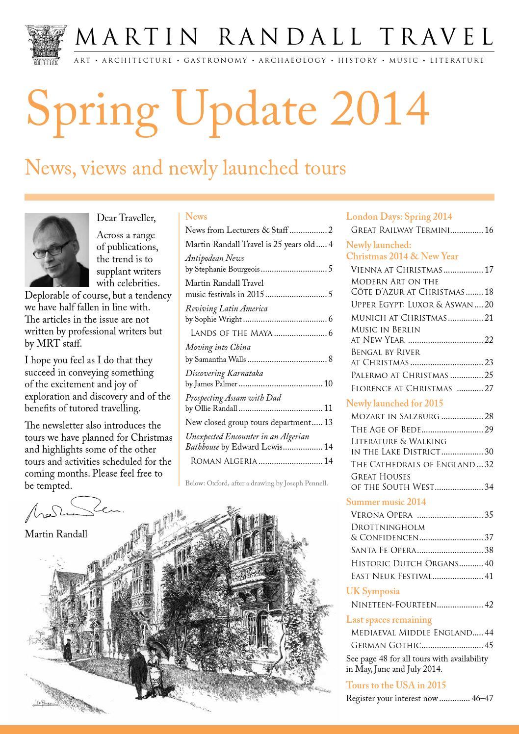 Spring Update 2014 by Martin Randall Travel - issuu