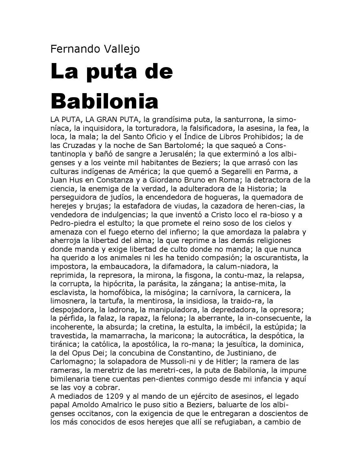La Puta De Babilonia Frase