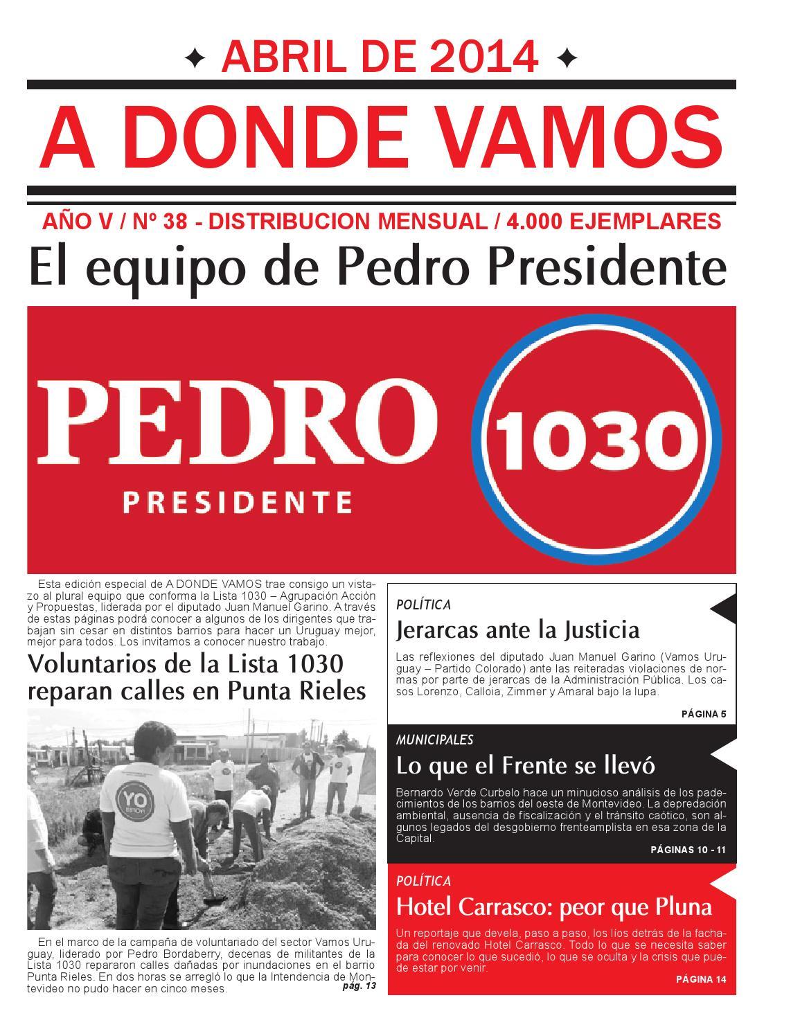 38 ADV Abril 2014 by Lista 1030 Acción y Propuestas - issuu