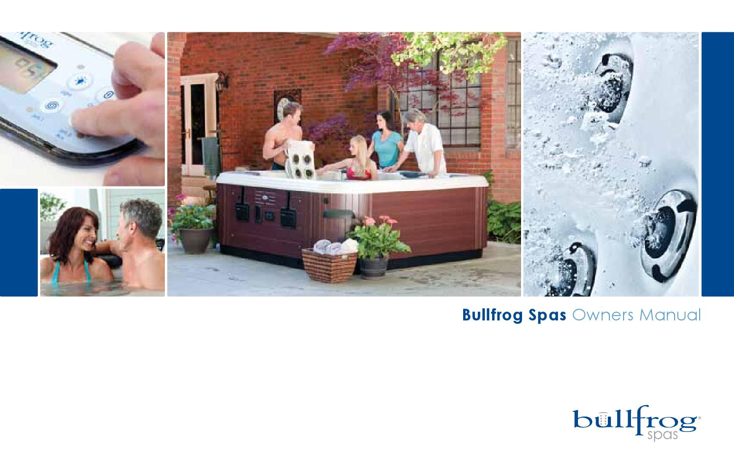 Bullfrog Manual 2012 By Envirosmarte Hot Tubs Swim Spas Issuu Cal Spa 20 Amp 240 Volt High Current Gfci The Works