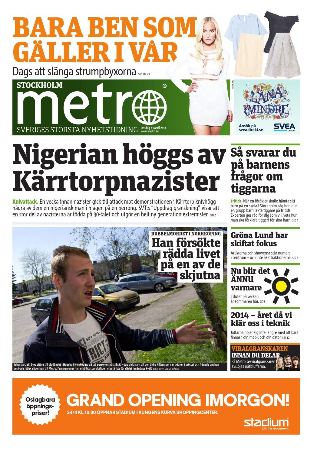 wholesale dealer 91794 dd0b9 20140423 se stockholm by Metro Sweden - issuu