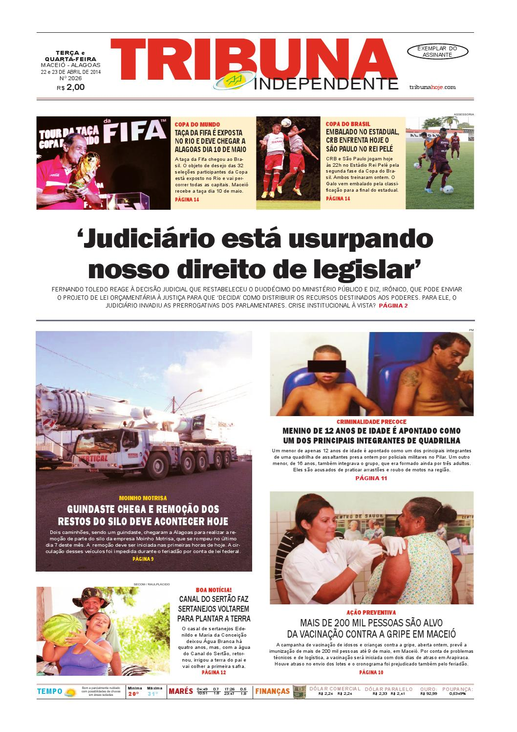 131bd98ac5503 Edição número 2026 - 22 e 23 de abril de 2014 by Tribuna Hoje - issuu