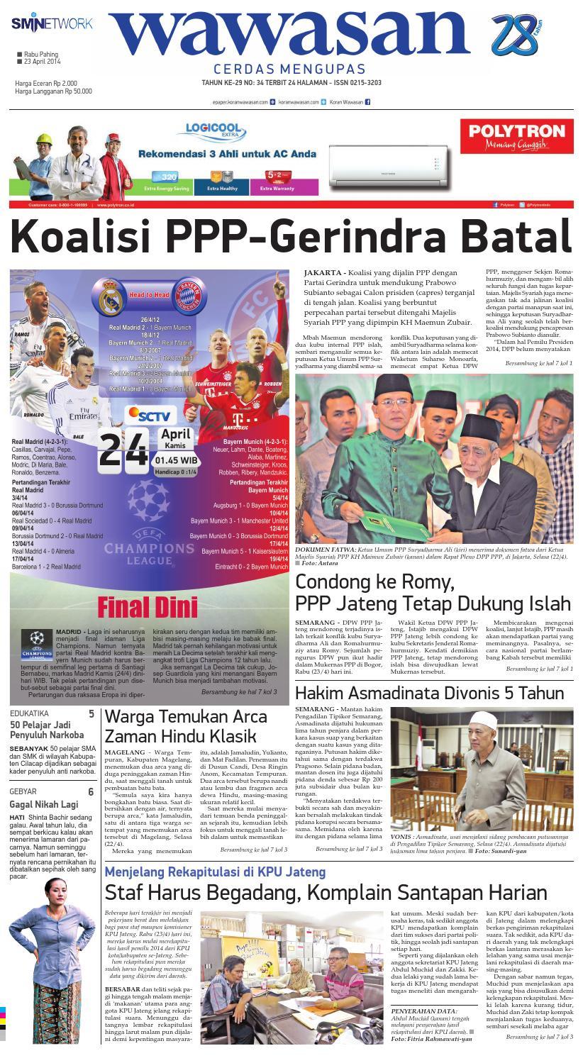 Wawasan 23 April 2014 By Koran Pagi Issuu Keripik Bawang Srikandi Kontan