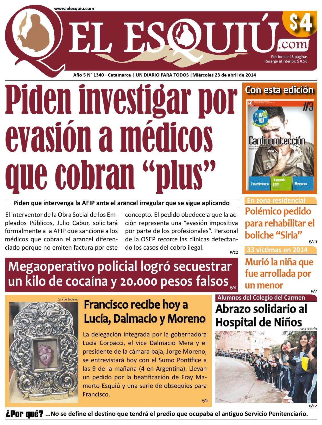 El Esquiu.com, miércoles 23 de abril de 2014 by Editorial El Esquiú ...