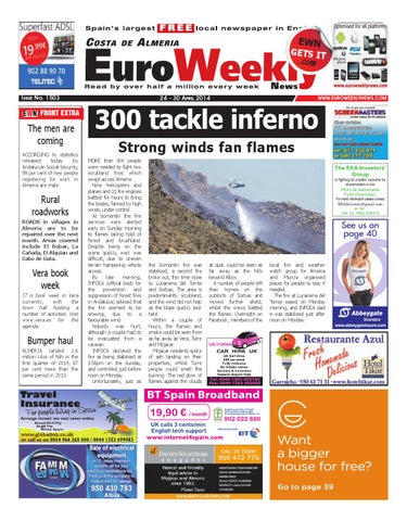 Euro Weekly News - Costa de Almeria 24 - 30 April 2014 Issue 1503 by