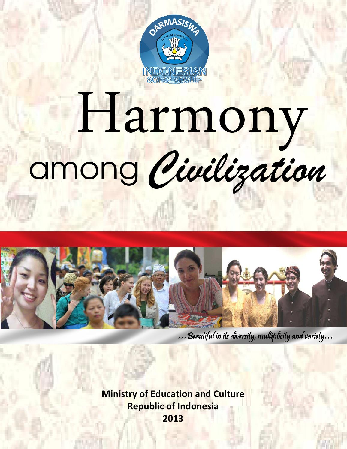 Harmony Among Civilization By Darmasiswa Issuu