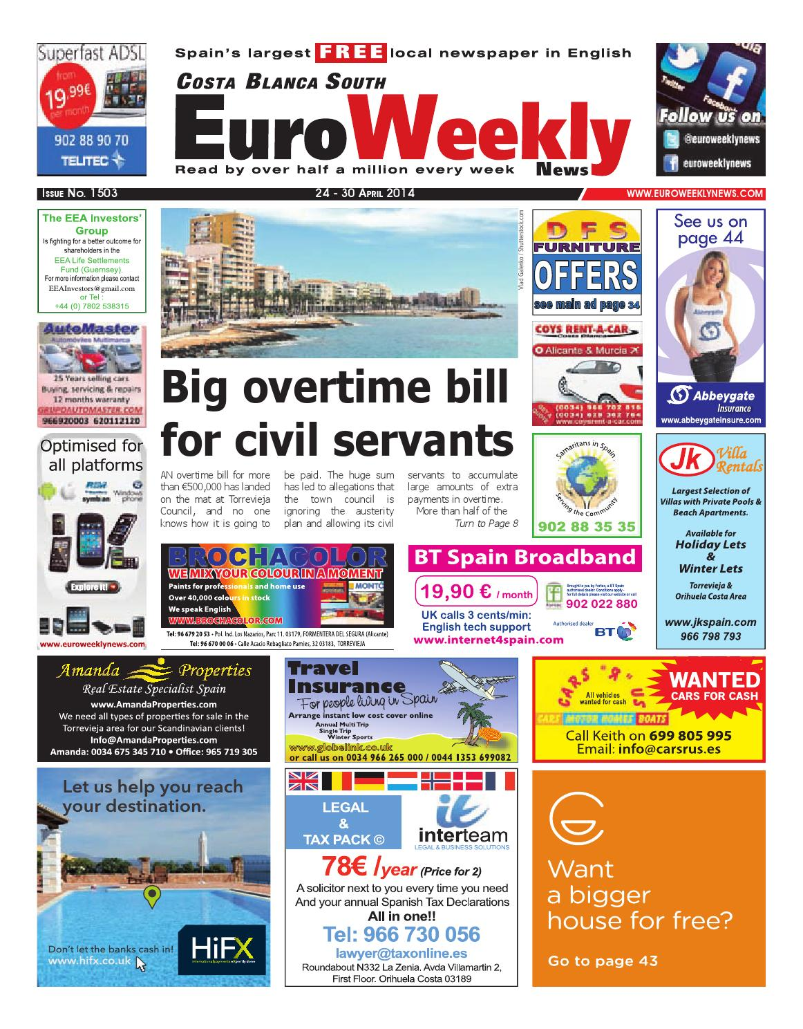 Euro Weekly News - Costa Blanca South 24 - 30 April 2014
