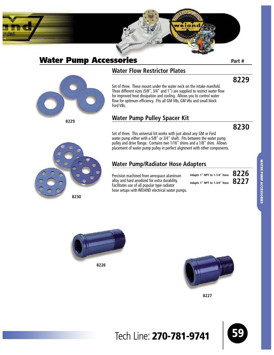 Universal Water Pump Shim Kit Aluminum