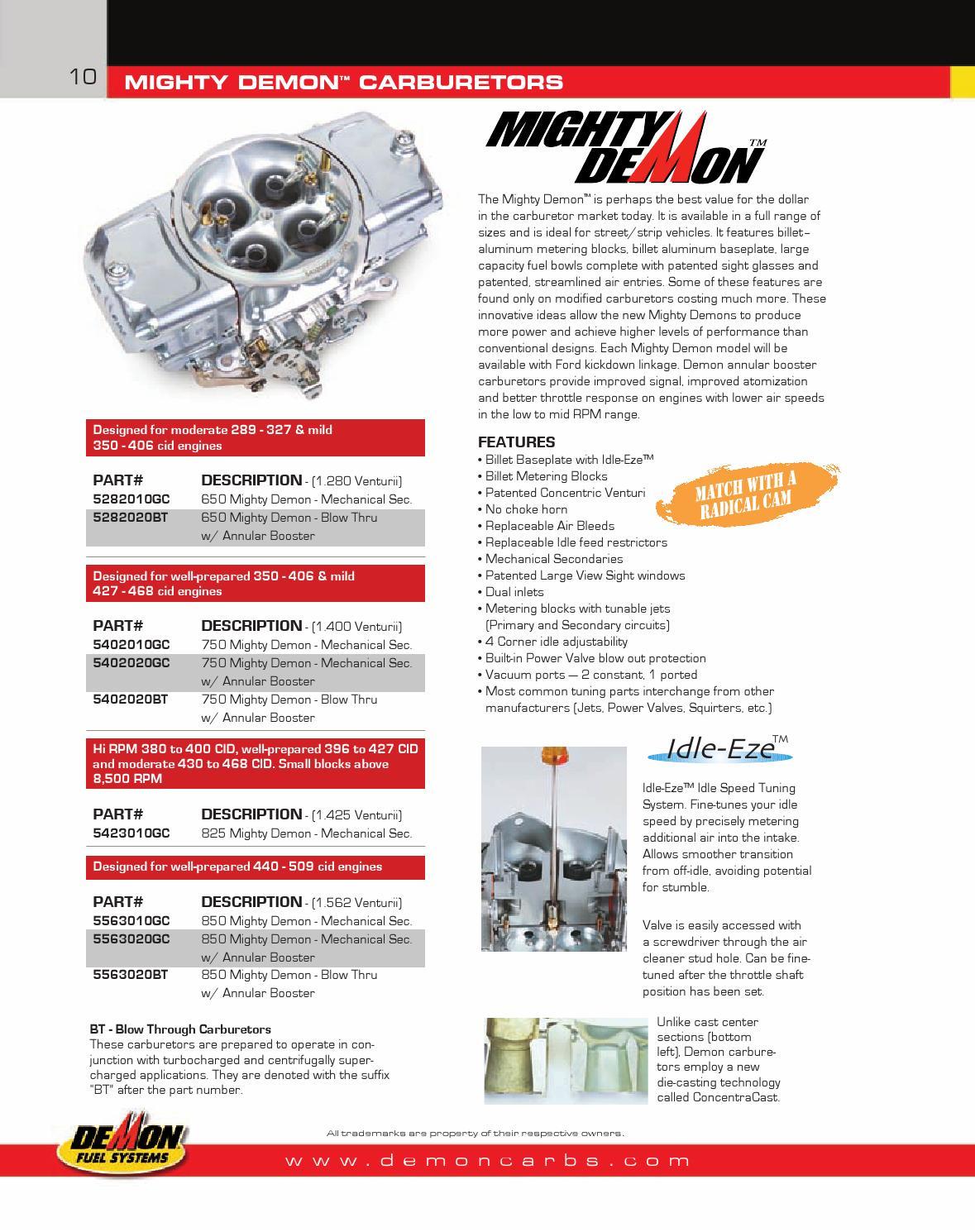 Demon 230052 Size-52 Standard Main Metering Jet 2 Piece Demon Carburetion
