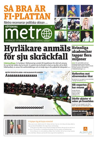 new product dad95 6a961 20140424 se goteborg by Metro Sweden - issuu