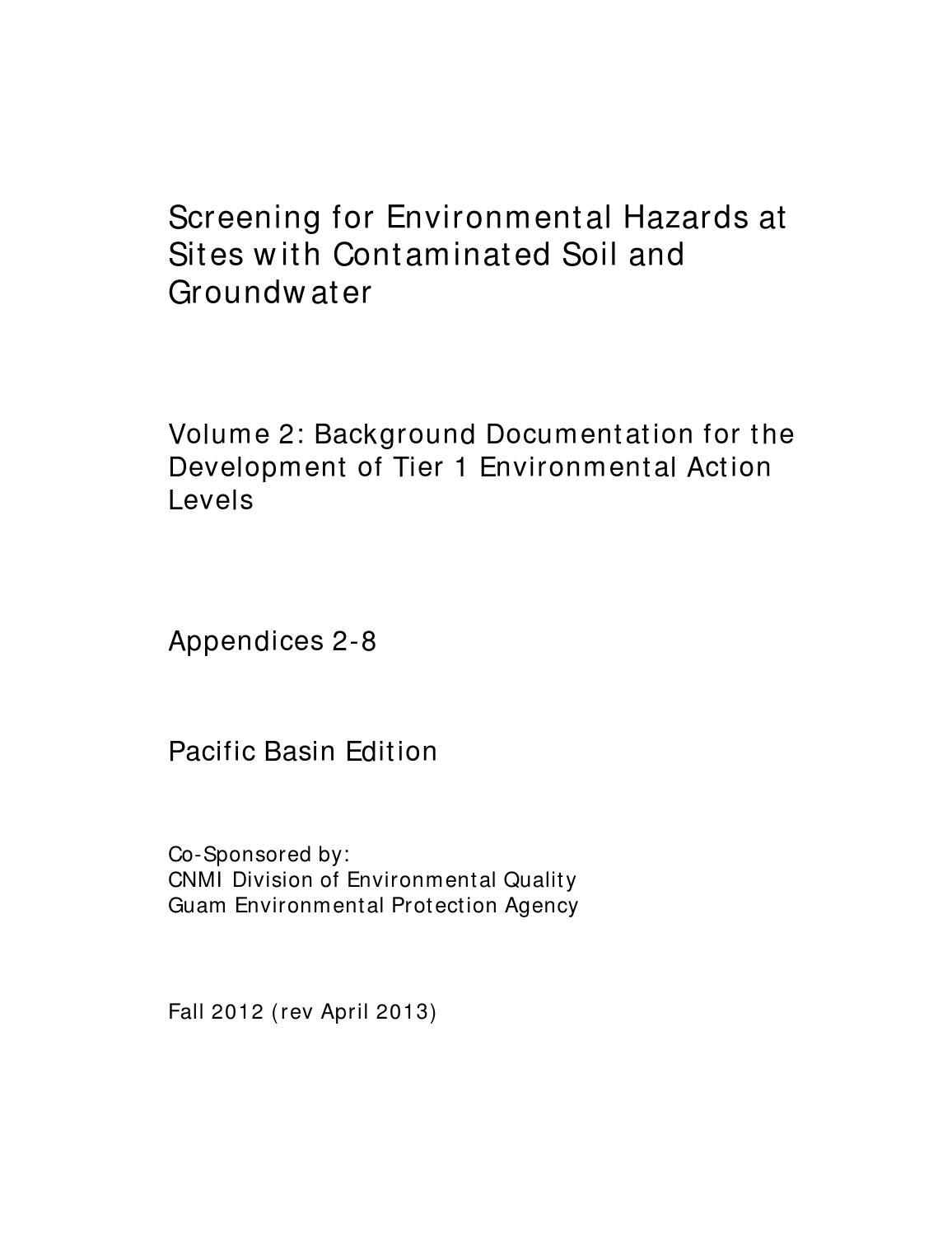 Volume 2 app 2 8 fall 2012 rev april 2013 by Guam Environmental – Groundwater Worksheet
