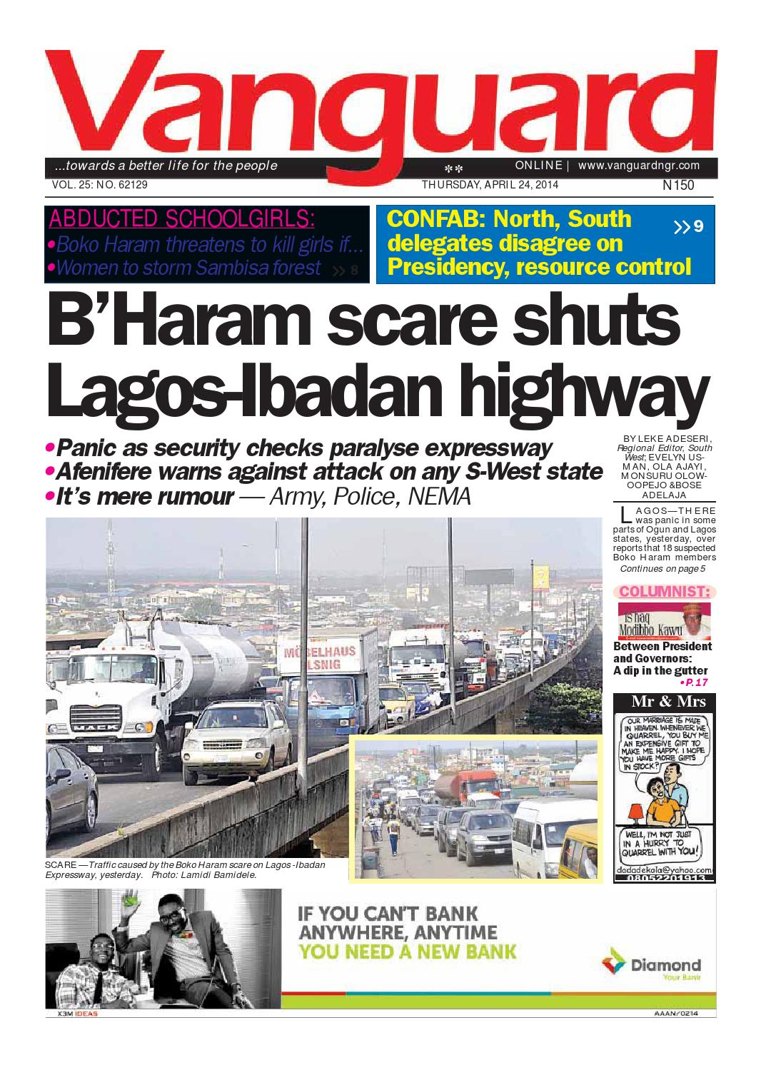 B\'Haram scare shuts Lagos-Ibadan highway by Vanguard Media Limited ...