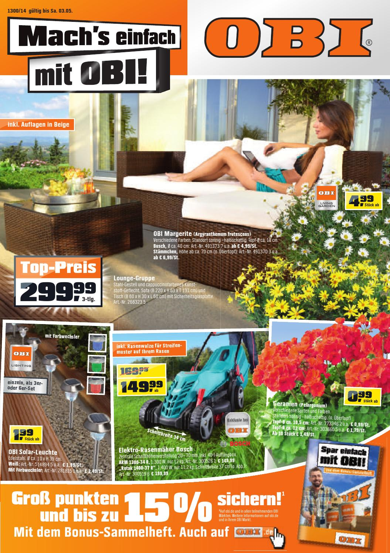Obi angebote 24april 3mai2014 by issuu for Gartengestaltung 1220