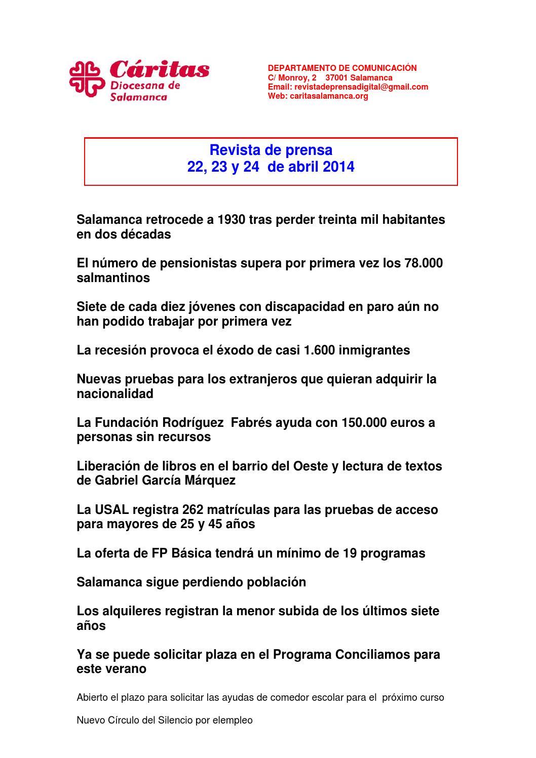 Revista de prensa 22,23 y 24 de abril 2014 by revista prensa ...