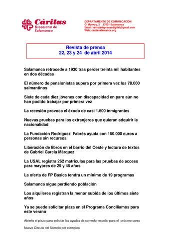 Revista de prensa 22,23 y 24 de abril 2014 by revista prensa - issuu