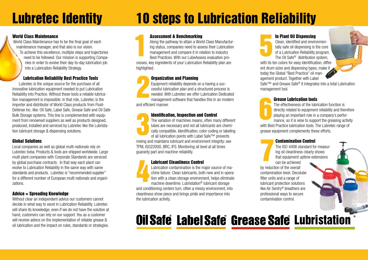 Lubretec flyer lowres by Lubretec bvba - issuu