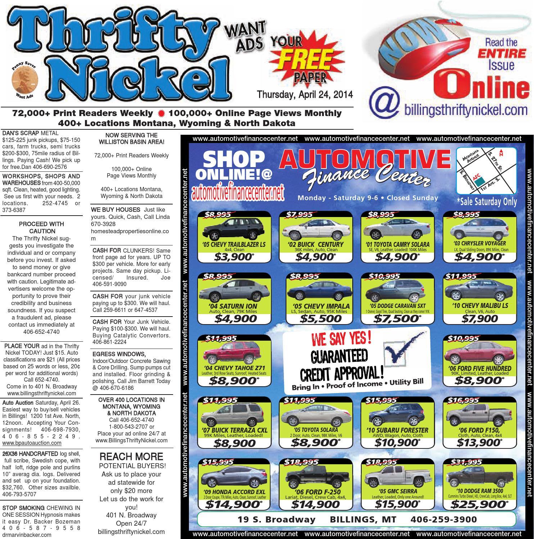thrifty nickel apr 24 by billings gazette issuu