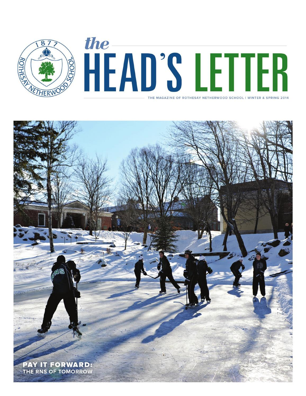 Spring Head\'s Letter 2014 by Rothesay Netherwood School - issuu