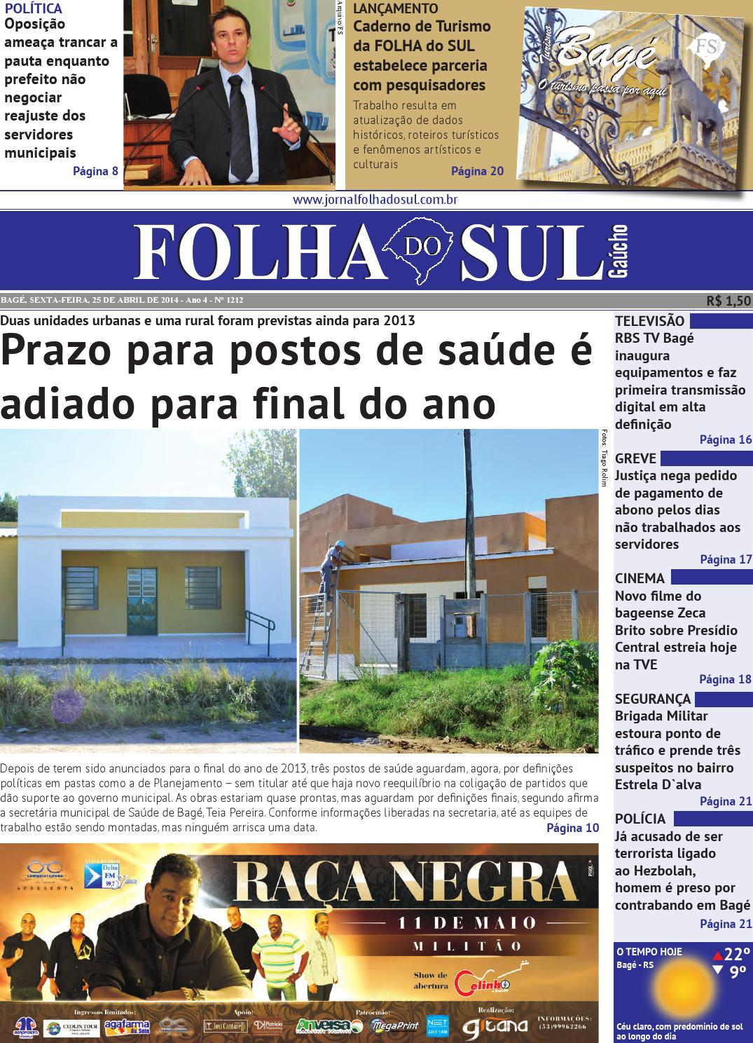 Folha do Sul Gaúcho Ed. 1212 (25 04 2014) by Folha do Sul Gaúcho - issuu 847d91736019