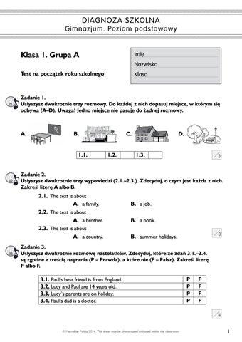 macmillan testy angielski klasa 4