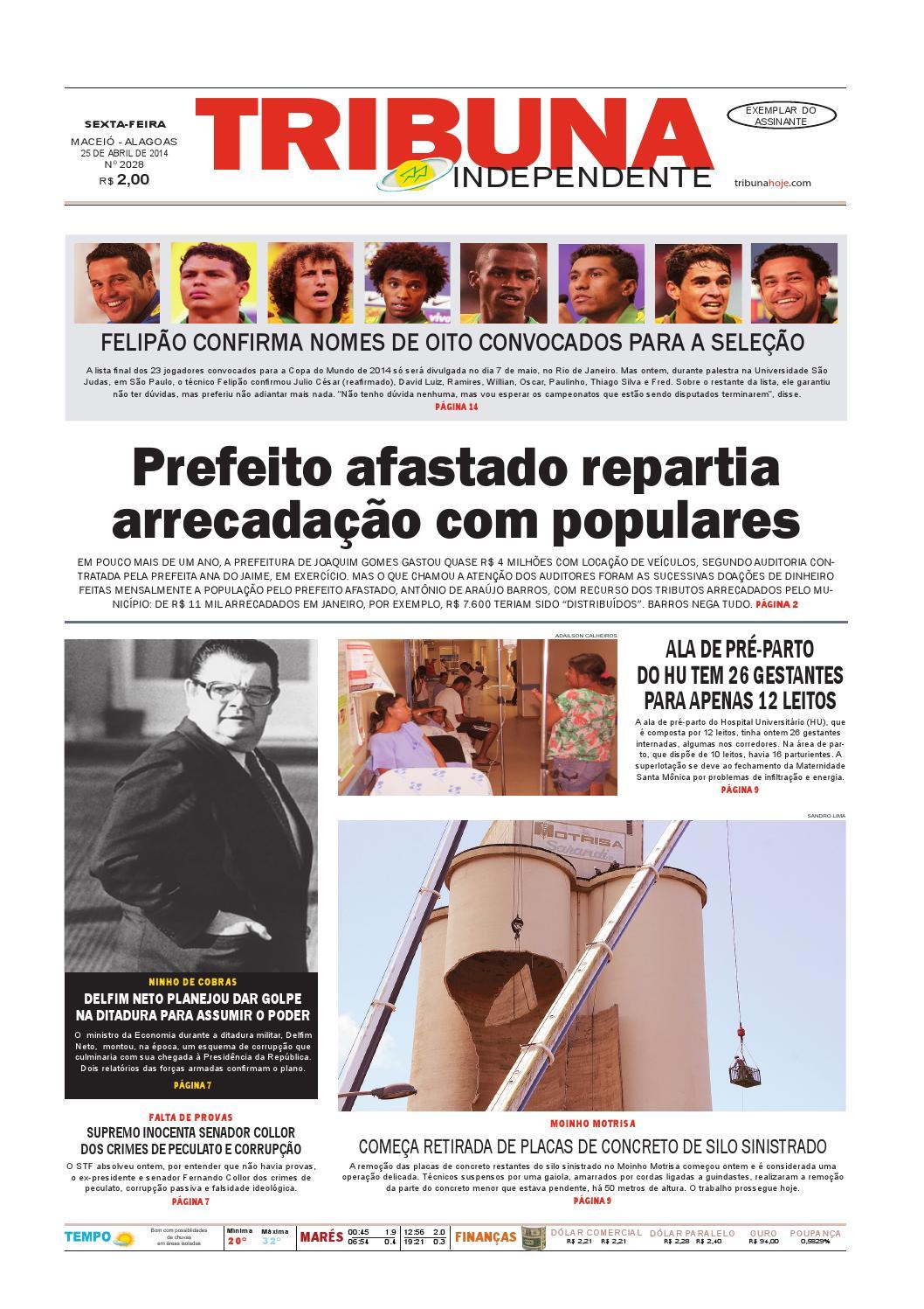 d76c5787c86 Edição número 2028 - 25 de abril de 2014 by Tribuna Hoje - issuu