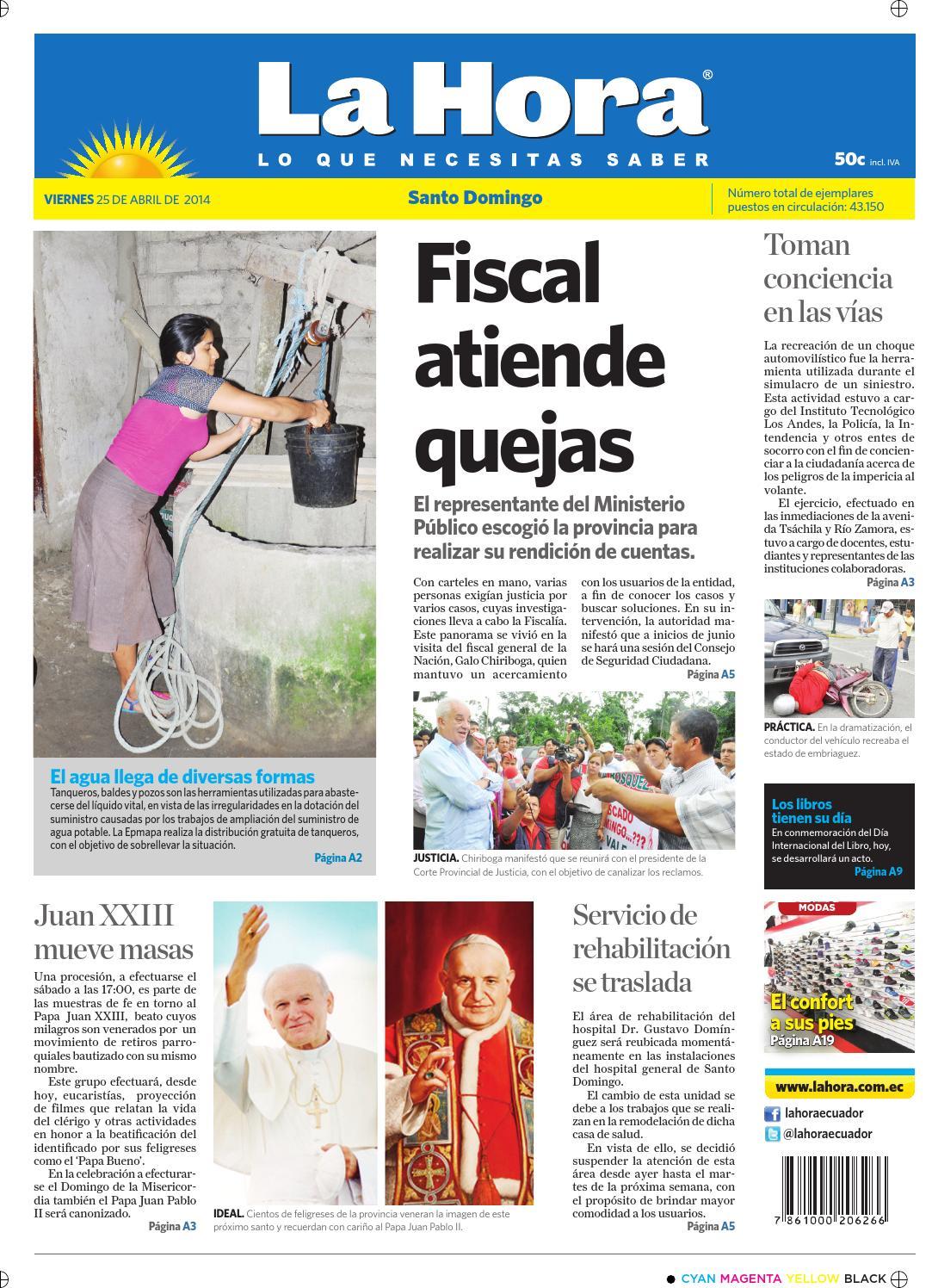 Santo Domingo 25 abril 2014 by Diario La Hora Ecuador - issuu b583fe45194