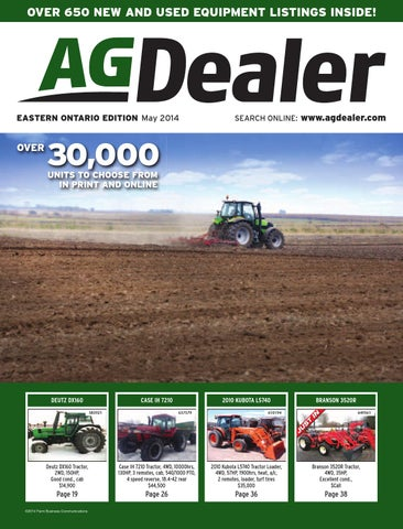AGDealer Eastern Ontario Edition, May 2014 by Farm Business