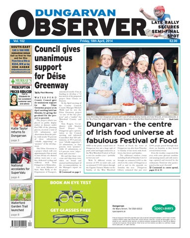f1a6ce6de9 Dungarvan observer 18 4 2014 edition by Dungarvan Observer - issuu