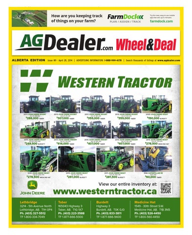 Wheel & Deal Alberta April 28 2014 by Farm Business