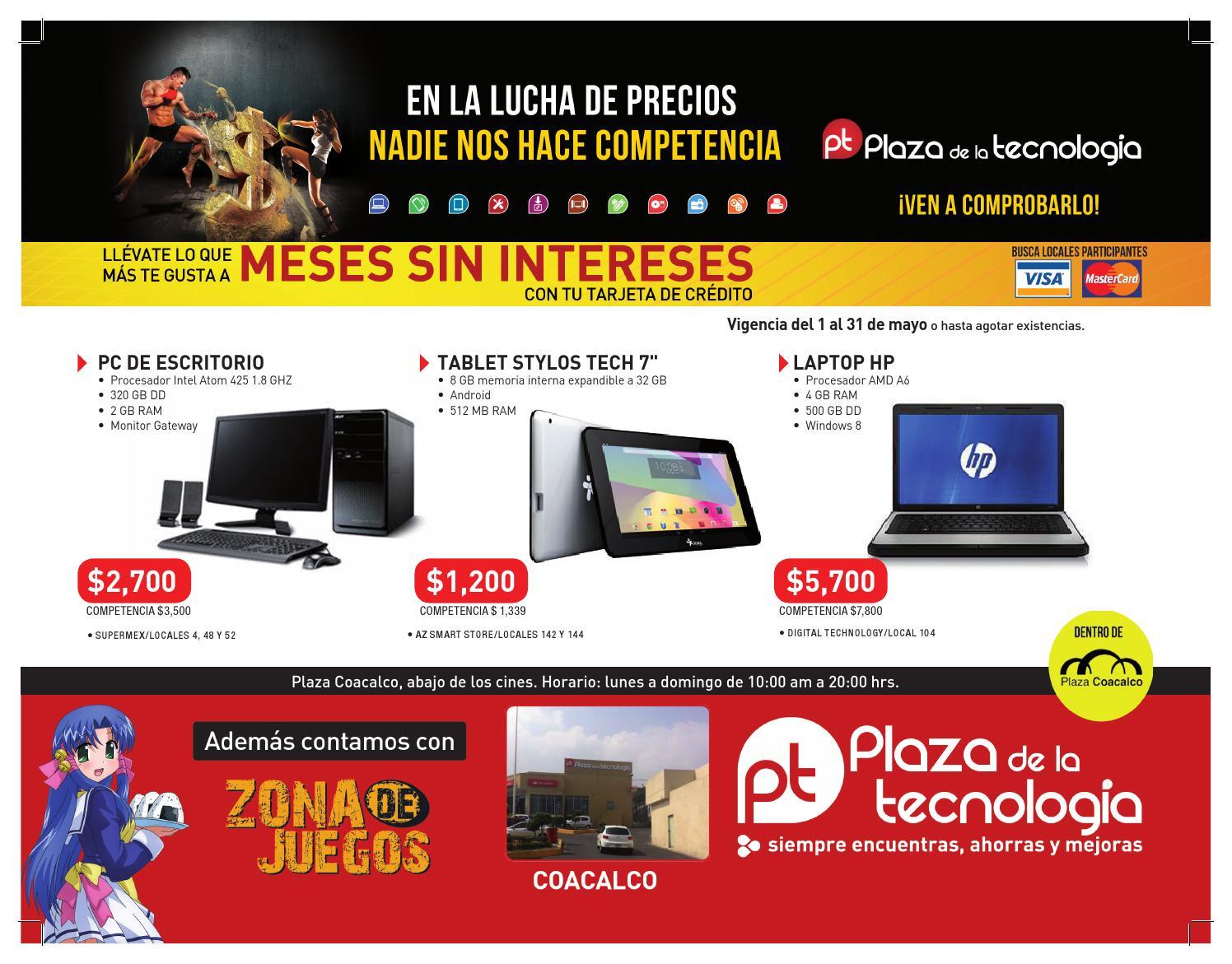 folleto de plaza de la tecnolog237a coacalco mayo 2014 by