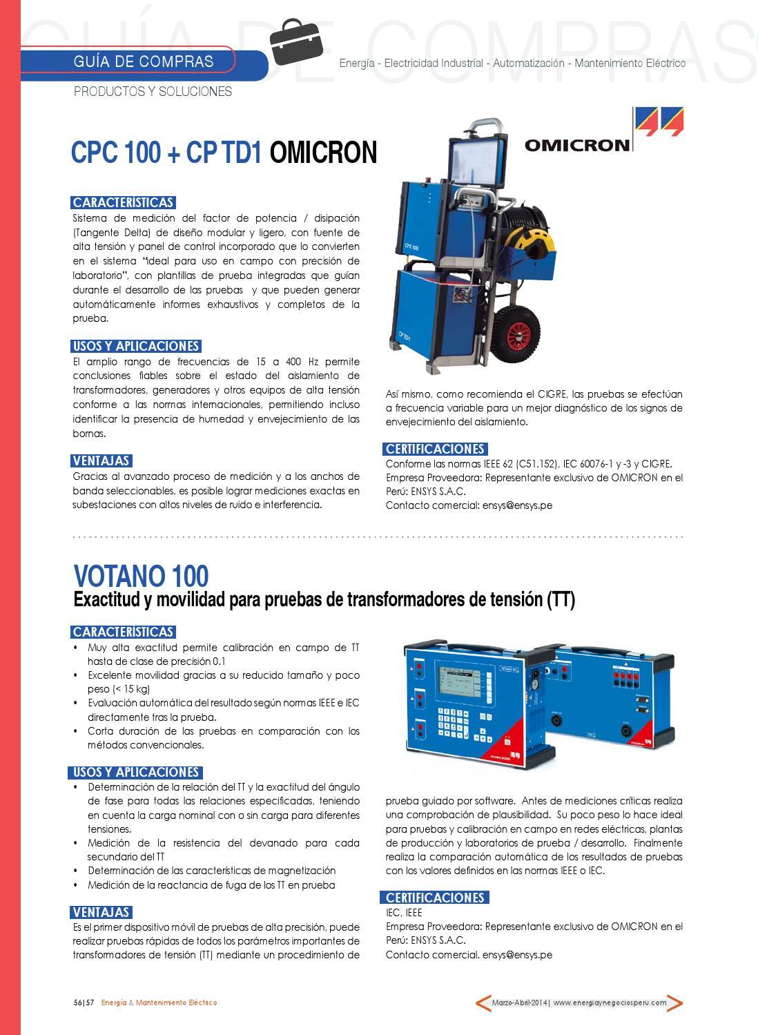 Revista energía & mantenimiento eléctrico edic n°1 ok by Energía y ...