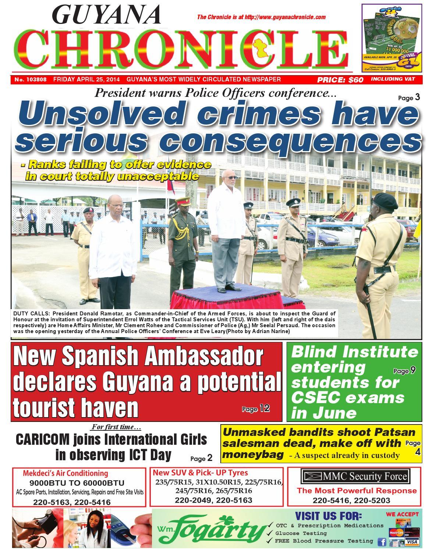 Guyana chronicle 25 04...