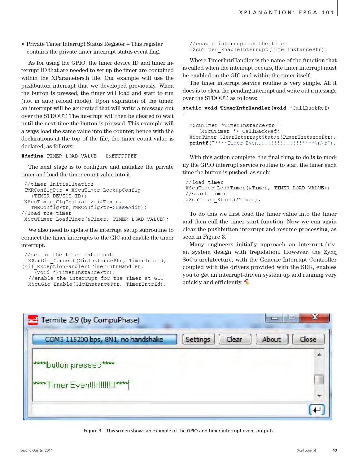 Xilinx Gpio Example
