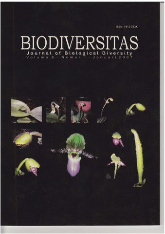 Biodiversitas vol 8 no 1 January 2007 abstract in English by