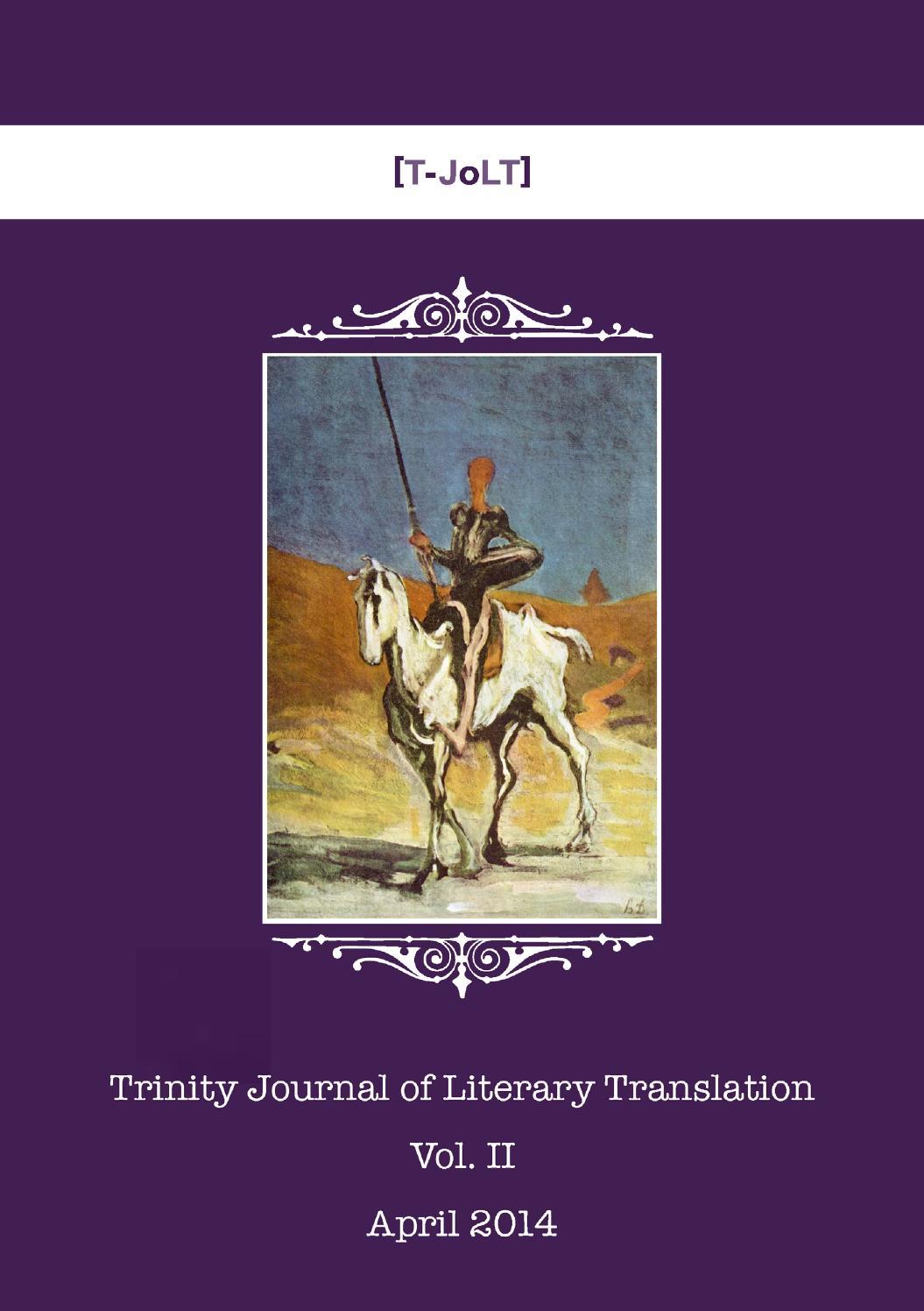 Trinity JoLT - Vol. II – April 2014 by Trinity JoLT - issuu