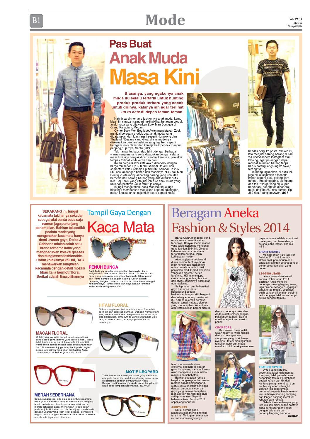 Waspada Minggu 27 April 2014 By Harian Issuu Katalog Aneka Fashion Anak
