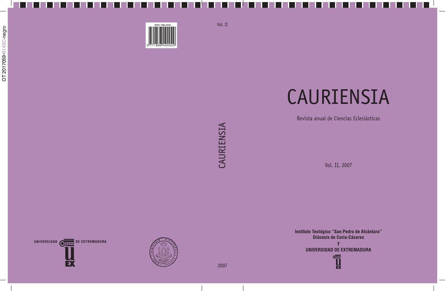 Cauriensia II part 1 by Boletín_Publicaciones - issuu