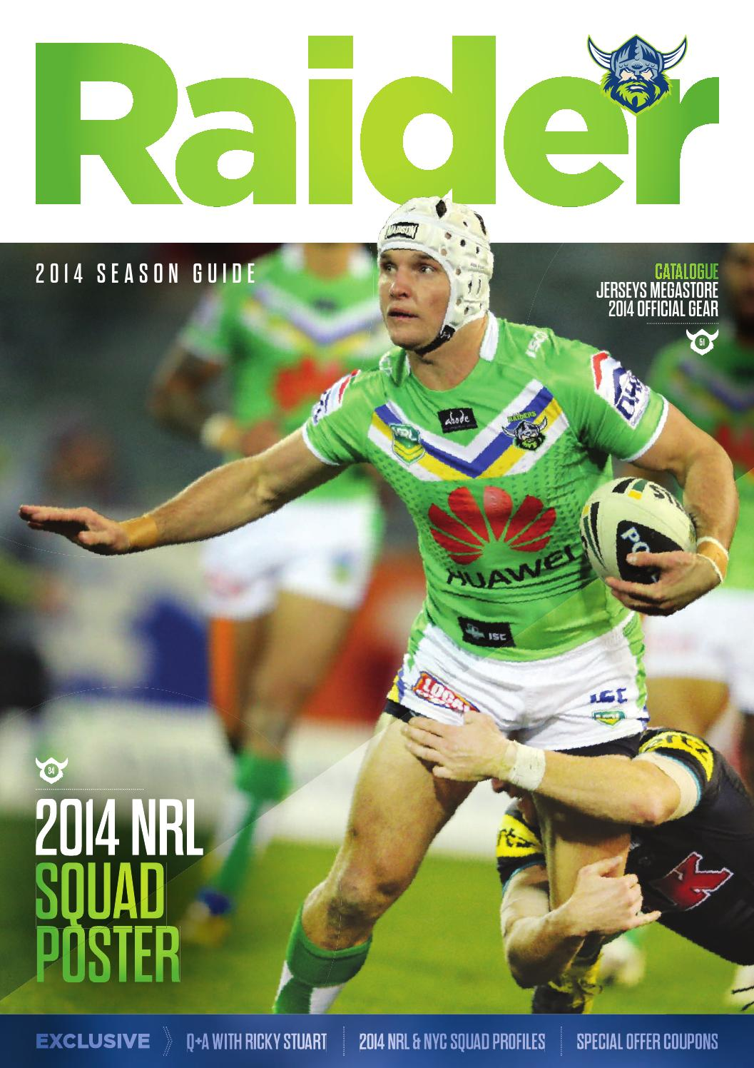 2014 Canberra Raiders Season Guide with Poster by Canberra Raiders - issuu 6b417fdd8